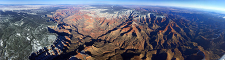 An amazing panorama from our Grand Canyon hot air balloon flight on December 16, 2015!